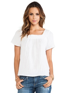 Michael Stars Short Sleeve Square Neck Blouse