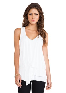 Michael Stars Side Waist Drape V Neck Tank