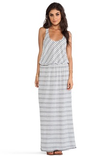 Michael Stars Sleeveless Racer Back Maxi Dress
