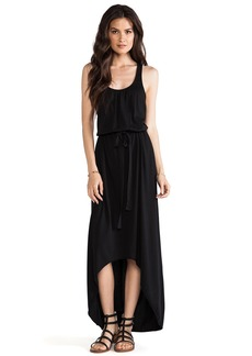 Michael Stars Sleeveless Scoop Neck Racerback Hi-Low Maxi