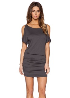 Michael Stars Slit Sleeve Ruched Dress
