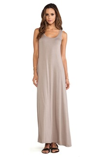 Michael Stars Sonia Sleeveless Tank Maxi Dress in Taupe