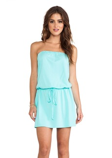 Michael Stars Strapless Tie Waist Dress