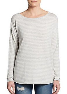 Michael Stars Striped Dropped Shoulder Pullover