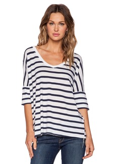 Michael Stars Striped V Neck Tee