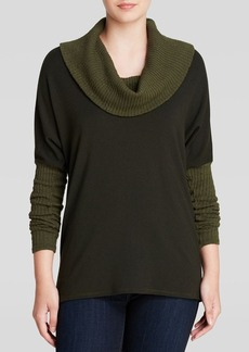 Michael Stars Sweater - Cowl Neck Color Block