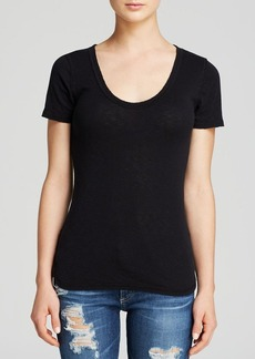 Michael Stars Tee - Slub U Neck Raw Edge