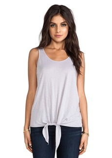 Michael Stars Tie Front Tank in Gray