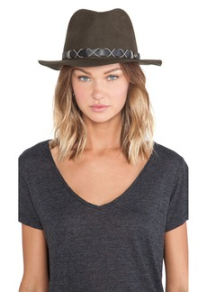 Michael Stars Top Knot Wide Brim Fedora