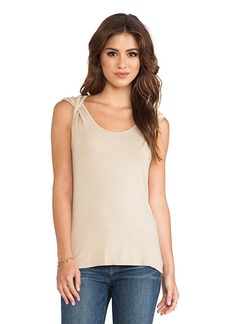 Michael Stars Twisted Strap Top in Tan
