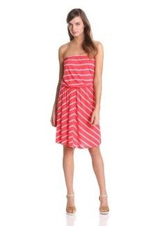 Michael Stars Women's Hampton Stripe Strapless Dress