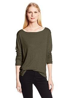 Michael Stars Women's Long-Sleeve Boatneck Tee Shirt