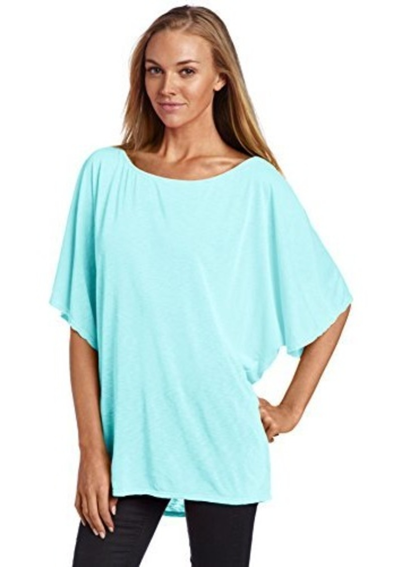 Michael stars women 39 s short sleeve off shoulder dolman for Michael stars t shirts on sale