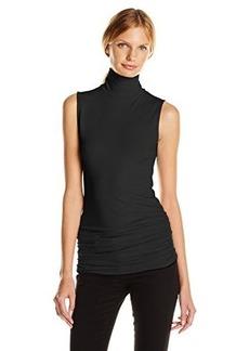Michael Stars Women's Sleeveless Mock Neck Shell with Shirring