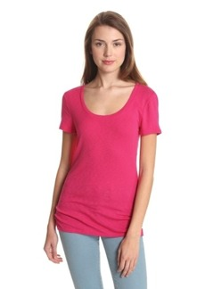 Michael Stars Women's Slub Short-Sleeve Scoop Tee