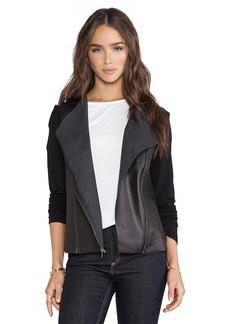 Michael Stars Zip Moto Jacket in Black