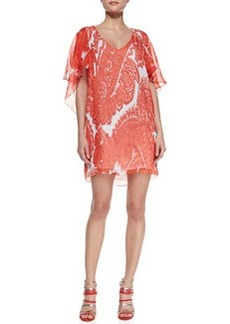 Bella Watercolor Paisley Silk Dress   Bella Watercolor Paisley Silk Dress