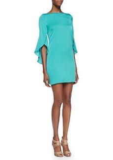Butterfly-Sleeve Sheath Dress   Butterfly-Sleeve Sheath Dress