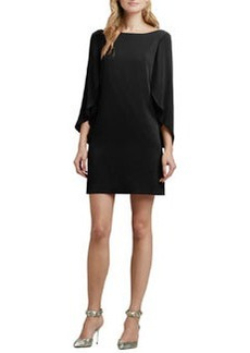 Butterfly-Sleeve Silk Dress   Butterfly-Sleeve Silk Dress