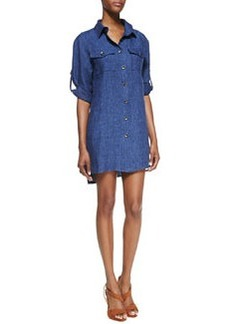 Chambray Linen Shirtdress   Chambray Linen Shirtdress