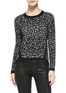 Cheetah-Jacquard Pullover   Cheetah-Jacquard Pullover