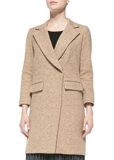 Cleo Tweed Bracelet-Sleeve Coat   Cleo Tweed Bracelet-Sleeve Coat