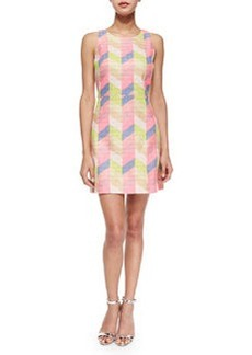Milly Couture Chevron Shift Dress