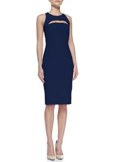 Cutout Slim Scoop-Neck Dress   Cutout Slim Scoop-Neck Dress