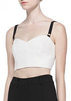 Double-Weave Cady Bustier with Contrast Straps   Double-Weave Cady Bustier with Contrast Straps