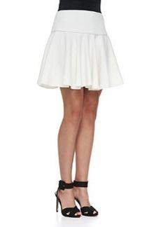 Drop-Waist Flared Twill Skirt   Drop-Waist Flared Twill Skirt