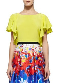 Elodie Sandwashed Cropped Top, Citrus   Elodie Sandwashed Cropped Top, Citrus