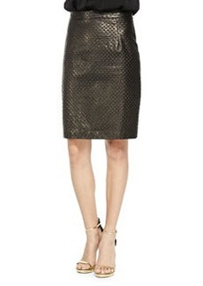 Embossed Leather Pencil Skirt   Embossed Leather Pencil Skirt