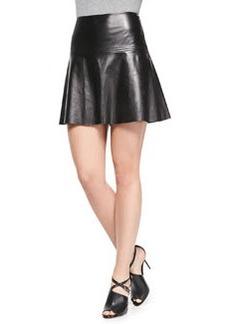 Emmy Flared Leather Skirt   Emmy Flared Leather Skirt