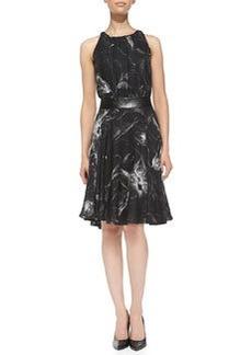 Floral-Print Sleeveless Dress   Floral-Print Sleeveless Dress