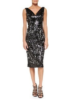 Gemma Sleeveless Sequined Cocktail Dress   Gemma Sleeveless Sequined Cocktail Dress