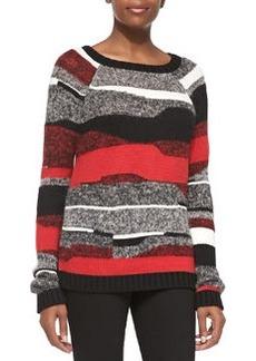 Graphic Stripe Pullover Sweater   Graphic Stripe Pullover Sweater