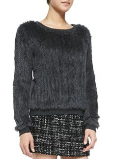 Knitted Fur Sweater   Knitted Fur Sweater