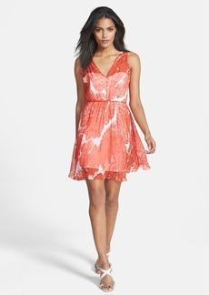 Milly 'Anna' Print Silk Fit & Flare Dress