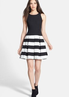 Milly 'Anna' Stretch Crepe Fit & Flare Dress