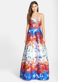 Milly 'Ava' Print Stretch Sateen Gown