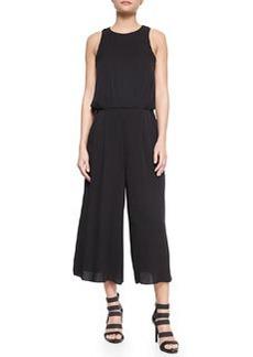 Milly Blouson Sleeveless Stretch-Knit Jumpsuit