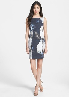 Milly Boatneck Woven Sheath Dress