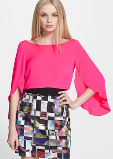Milly Butterfly Sleeve Silk Blouse