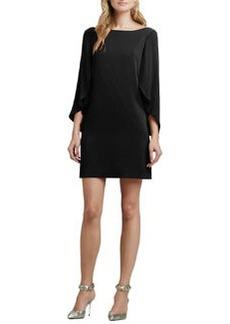 Milly Butterfly-Sleeve Silk Dress