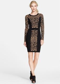 Milly Cheetah Jacquard Sheath Dress