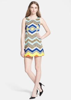 Milly Chevron Paneled Shift Dress