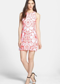 Milly 'Claudia' Embroidered Cotton A-Line Dress