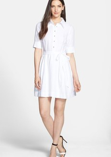 Milly 'Cleo' Belted Woven Shirtdress