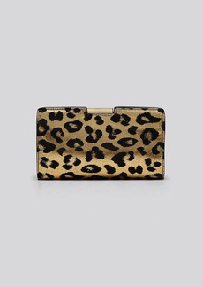 MILLY Clutch - Gold Leopard Print Small Frame