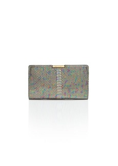 MILLY Clutch - Metallic Python-Embossed Small Frame